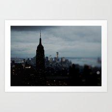 Manhattan Blackout Art Print