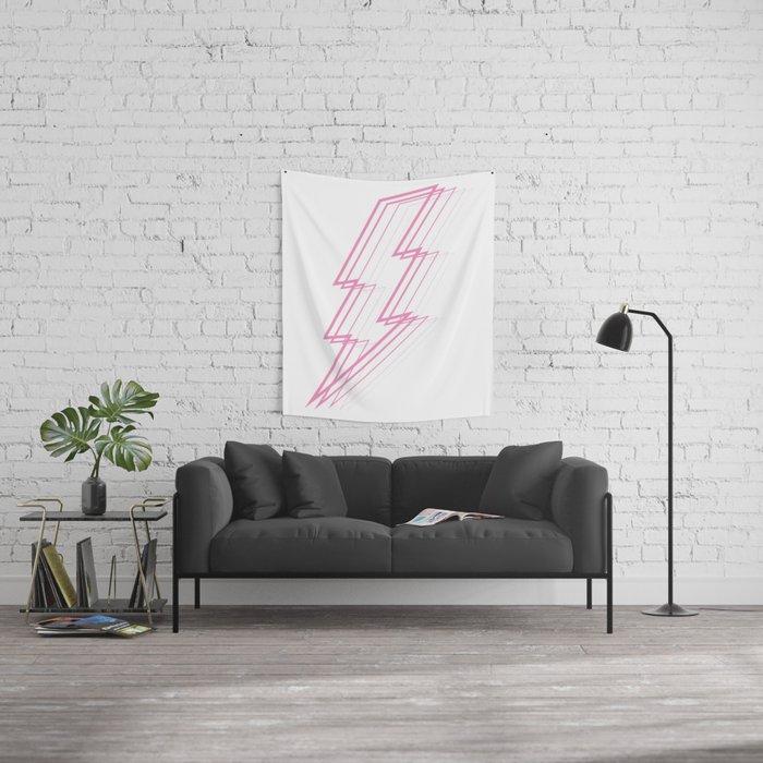 Pink Lightning Bolt Wall Tapestry