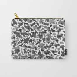 Black and White Terrazzo Tile Carry-All Pouch