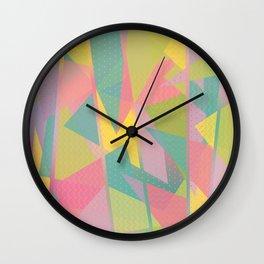 Abstract Geometric Pattern - Sugar Crush Wall Clock