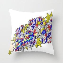 Shout!! Throw Pillow