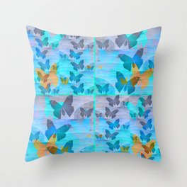 Simple Butterfly Geometric Print Throw Pillow