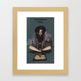 Happy Halloween, Witches Framed Art Print