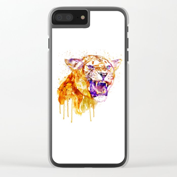 Angry Lioness Clear iPhone Case