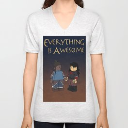 Everything Is Awesome Unisex V-Neck