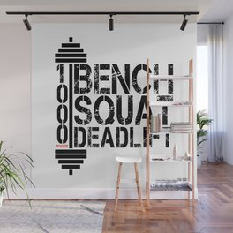 1000 Pounds Bench Squat Deadlift Powerlift Club Fitness Bodybuilder Bodybuilding Wall Mural