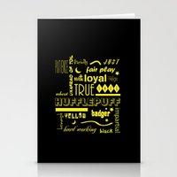 hufflepuff Stationery Cards featuring Hufflepuff by husavendaczek