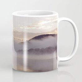 Into the Mists of Dawn: Sunrise on Lake George Coffee Mug