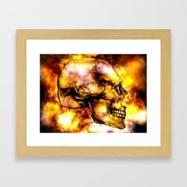 Fire and Skull Framed Art Print