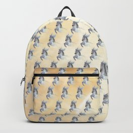 Dancing white horse Backpack