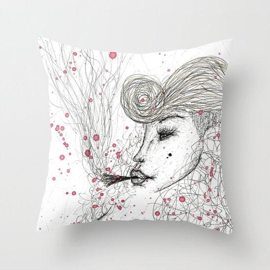 Big Mama Pink Throw Pillow