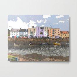 Seaside Apartments Metal Print