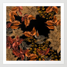Dark Forest (Autumn) Art Print