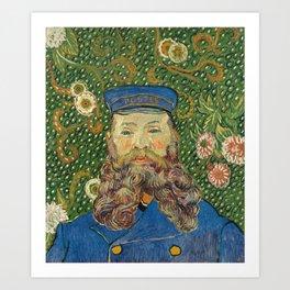 Portrait of the Postman Joseph Roulin by Vincent van Gogh Art Print