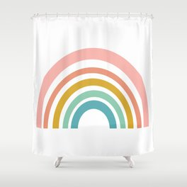 Simple Happy Rainbow Art Shower Curtain