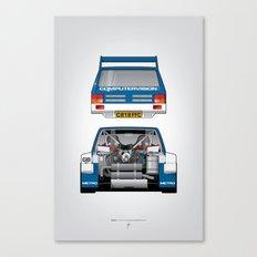 Outline Series N.º7, MG Metro 6R4, 1986 Canvas Print