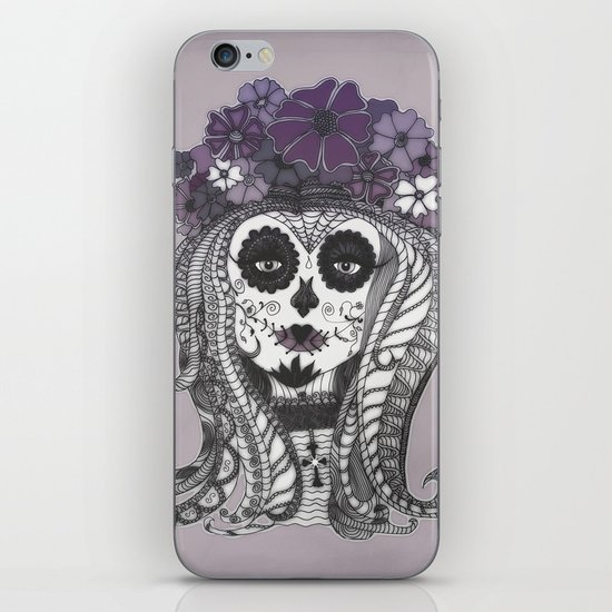 FLOWER CANDY SKULL iPhone & iPod Skin