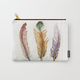 Triple Feathers Carry-All Pouch