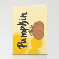 pumpkin Stationery Cards featuring pumpkin by gasponce