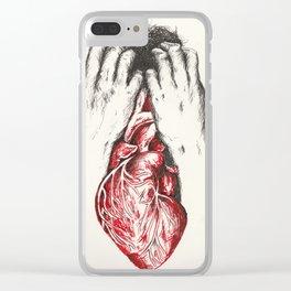 The Battle Between Head & Heart Clear iPhone Case