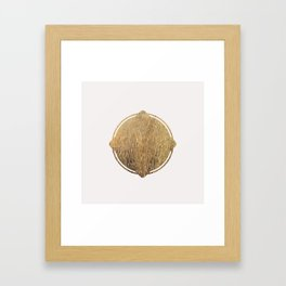 Gold Squircle Framed Art Print