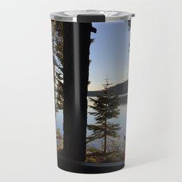 Lake Tahoe cabin view Travel Mug