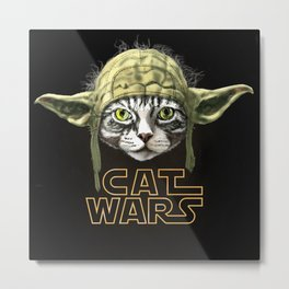 Cat Wars Metal Print