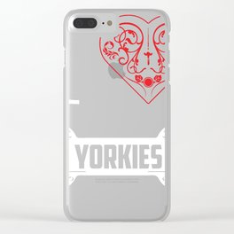 Yorkie Design I Heart Yorkies Bone Ornaments Clear iPhone Case
