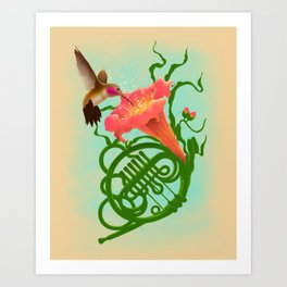 Musical Nectar Art Print