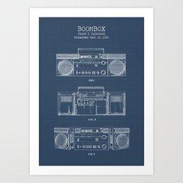 Boombox blueprints Art Print
