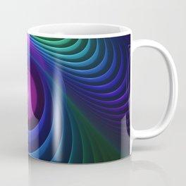 Beautiful Rainbow Marble Fractals in Hyperspace Coffee Mug