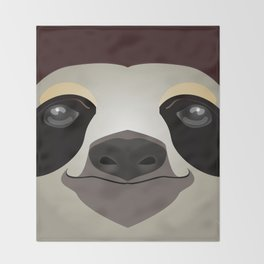 2D sloth Throw Blanket