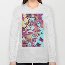 Japanaese Tree with hänging nouses in the Sun Long Sleeve T-shirt