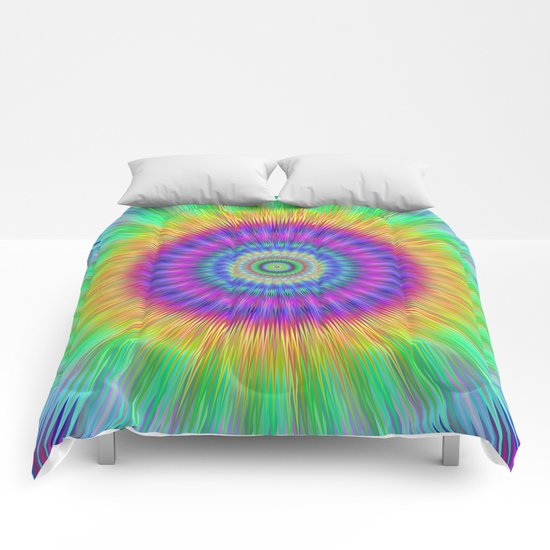 Colorful explosion Comforters