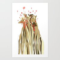 tangled Art Prints featuring Tangled by Julia Kisselmann