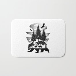 A NIGHT IN ALASKA Bath Mat