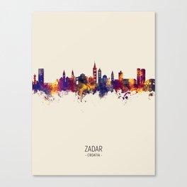 Zadar Croatia Skyline Canvas Print