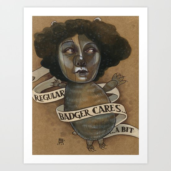 REGULAR BADGER Art Print