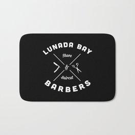 Barber Shop : Lunada Bay Barbers B&W Bath Mat