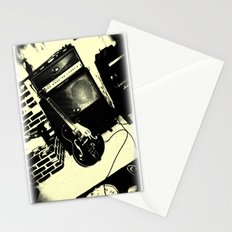 Shockin' White Light Guitar Stationery Cards