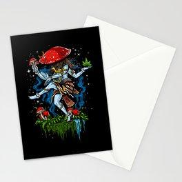 Magic Mushroom Lord Shiva Psychedelic Stationery Cards