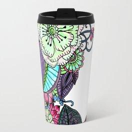 Modern hand painted magenta purple watercolor flowers Travel Mug
