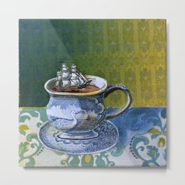 Sea Dog's tea cup Metal Print