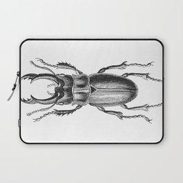 Vintage Beetle black and white Laptop Sleeve