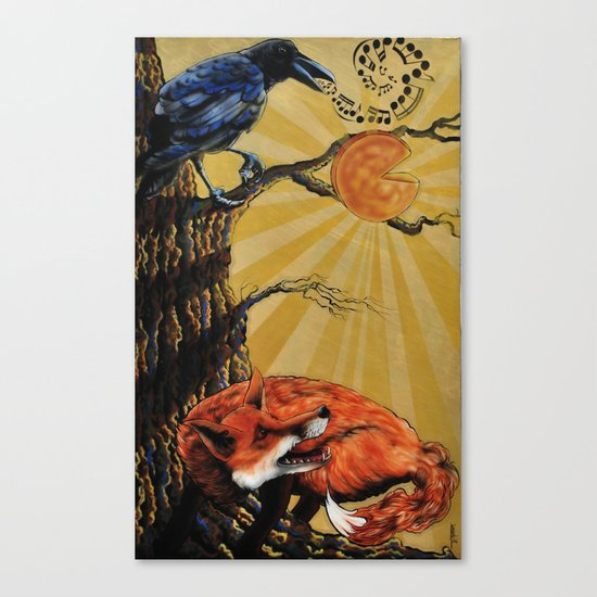 the Fox and Crow Canvas Print