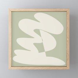 Minimalist Modern Abstract Expressionism in Sage Framed Mini Art Print