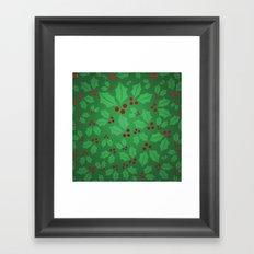 Holly Jolly Christmas Framed Art Print