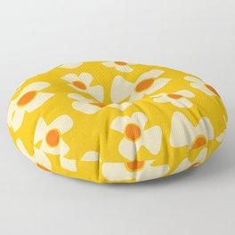 New Flower Daisy Yellow Floor Pillow