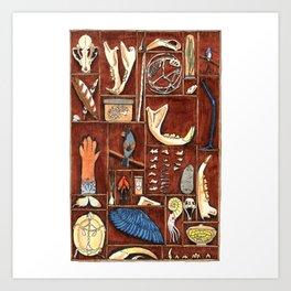 Curious Cabinet Art Print