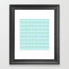 chevron blue&green Framed Art Print